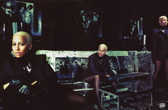 Amber Rose's fashion spread in the December 2009/January 2010 Issue of VIBE Magazine