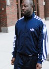 Wyclef Jean leaving the Hot 97/Newsweek building in New York City – January 21st 2010