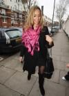 Leona Lewis leaving Radio 1 studios in London – January 21st 2010