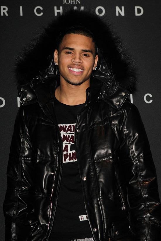 Chris brown fashion week