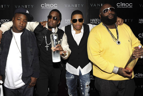 Jadakiss, Diddy, Nelly and Rick Ross // Grand Opening of Vanity Nightclub Hosted by Diddy