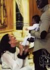 Kimora Lee, Djimon Hounsou and their new son Kenzo // February 2010 Ebony Magazine