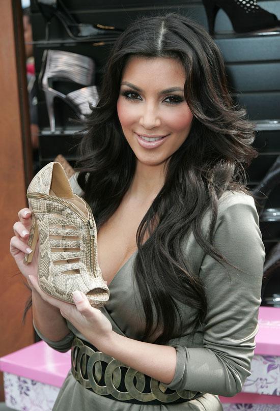 kim kardashian shoes line. Kim Kardashian greeted a