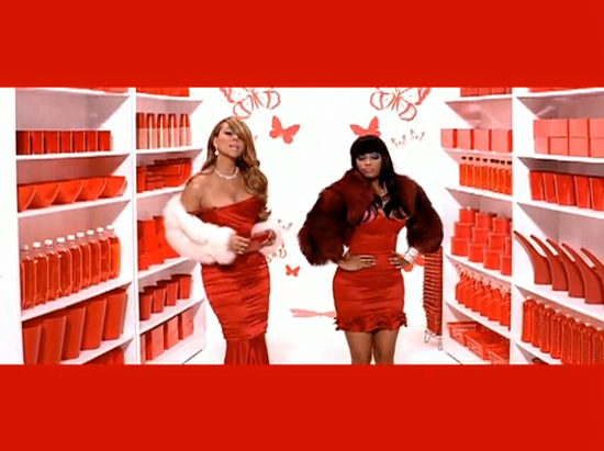 Mariah Carey teamed up with Young Money rapper Nicki Minaj for the remix to