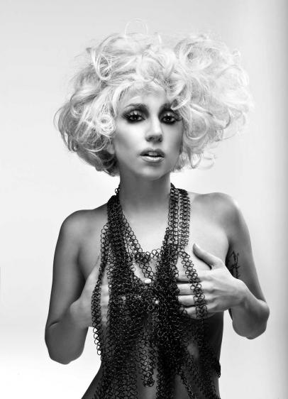 "LADY GAGA COVERS APRIL 2010 Q MAGAZINE W/ ""SOMETHING EXTRA"" IN HER PANTS."