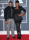 Jennifer Hudson and her fiance David Otunga // 52nd Annual Grammy Awards - Red Carpet