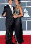 Kevin Jonas and his wife Danielle // 52nd Annual Grammy Awards - Red Carpet