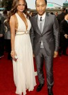 John Legend and his girlfriend Christine Teigen // 52nd Annual Grammy Awards - Red Carpet