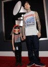 Travis Barker and his son Landon // 52nd Annual Grammy Awards - Red Carpet