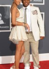 Pleasure P. and his girlfriend Bria Murphy (Eddie Murphy's daughter) // 52nd Annual Grammy Awards - Red Carpet