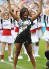 Alexandra Burke // London Wasps vs. Bath rugby charity tournament