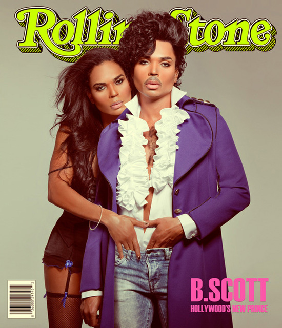 B  Scott Covers Rolling Stone Magazine as Prince in His New