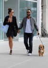 John Legend walking his dog with his girlfriend Christine Teigen in New York City - April 24th 2010