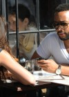 John Legend and his girlfriend Christine Teigein eating lunch at Gemma restaurant in New York City - April 24th 2010