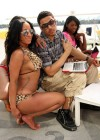 Quincy Brown and female rapper Hazel E poolside at a hotel in Miami Beach - April 23rd 2010