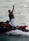 Quincy Brown jet-skiing in Miami Beach - April 23rd 2010