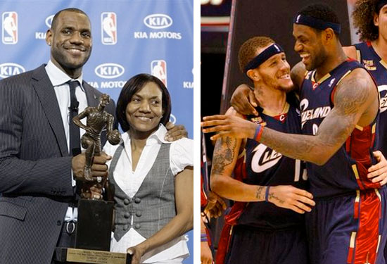 lebron james mom and delonte west pictures. frontman Lebron James a