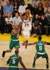 Kobe Bryant (Lakers – #24), Ray Allen (Celtics – #20), Kevin Garnett (Celtics – #5) and Rajon Rondo (Celtics – #9) // NBA Finals 2010 – Game 2: Los Angeles Lakers v. Boston Celtics