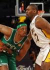 Paul Pierce (Celtics – #34) and Ron Artest (Lakers – #37) // NBA Finals 2010 – Game 2: Los Angeles Lakers v. Boston Celtics