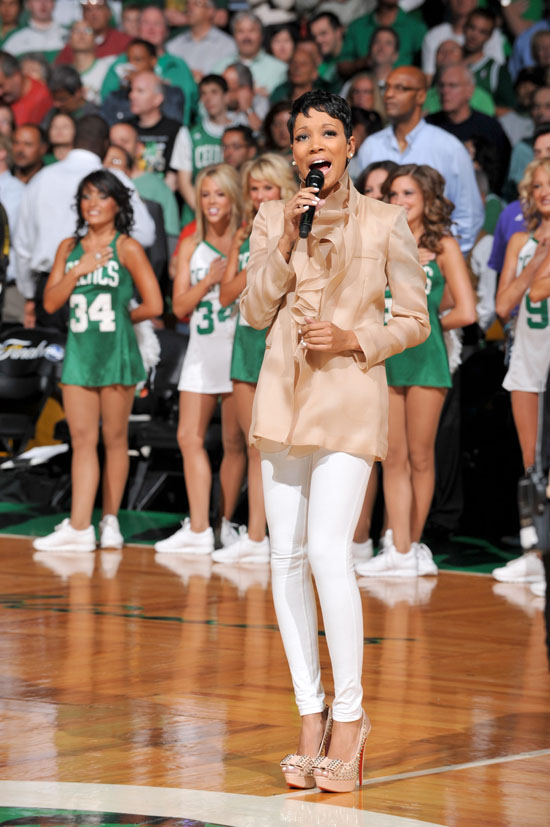 Monica performing the National Anthem // NBA Finals 2010 ...