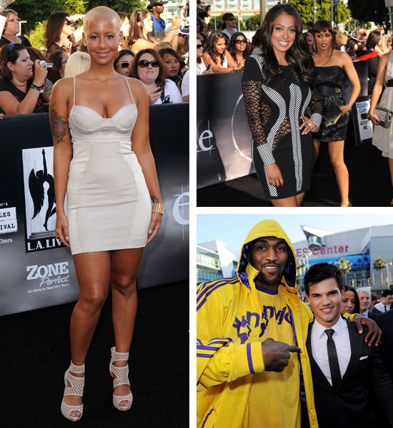 amber rose and kanye west at bet awards. Model Amber Rose hit up the