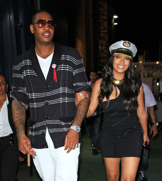 Today is a big day for NBA basketball star Carmelo Anthony and his fiancee,