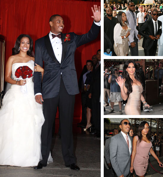 Carmelo Anthony And Lala Vazquez Are Officially Married Pics Of Their Celebrity Guests Arriving At The Wedding