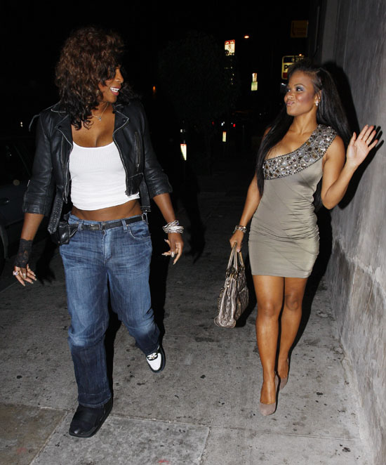 Christina Milian And Serena Williams Outside Madeo Restaurant In Beverly Hills Ca July 26th 2010