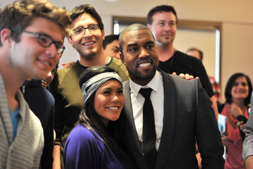 kanye west new album name. Rapper Kanye West joined
