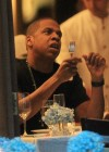 Jay-Z spotted eating dinner with Kanye West at Nello's restaurant in New York City – July 30th 2010