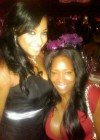 Toya with her stylist Leah Taylor // T.I. & Tiny's Wedding in Miami, FL - July 31st 2010