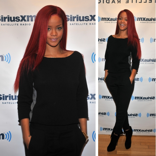The Glamorous Short Red Hairstyles Rihanna Pics