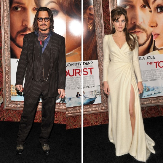 "Angelina Jolie and Johnny Depp were at the premiere of their new movie ""The"