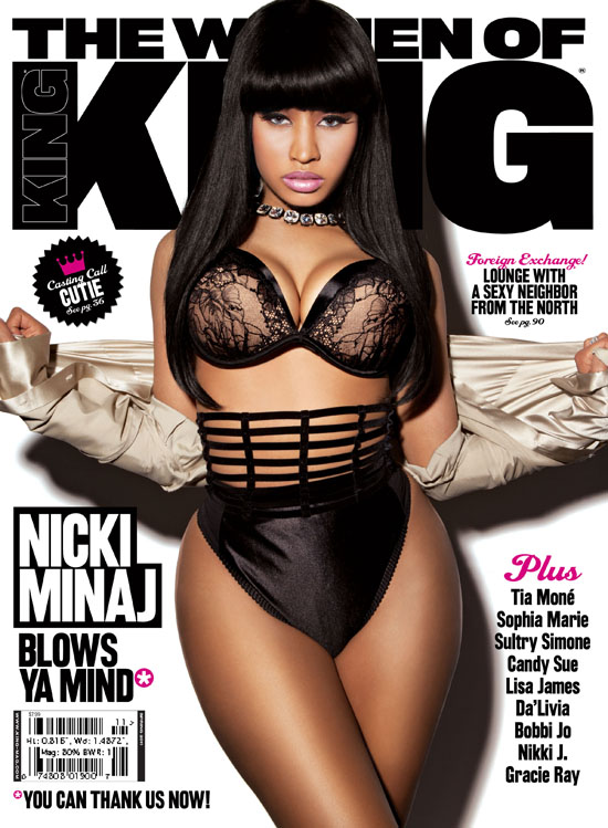 Nicki Minaj Covers March/April 2011 King Magazine
