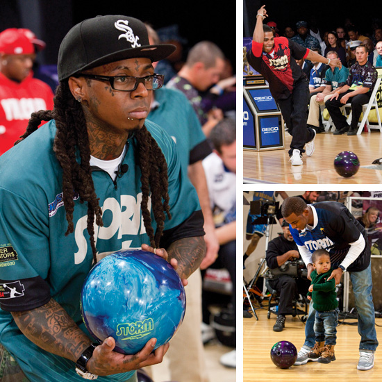 Lil Wayne put his bowling skills to good use in his hometown Tuesday (Dec