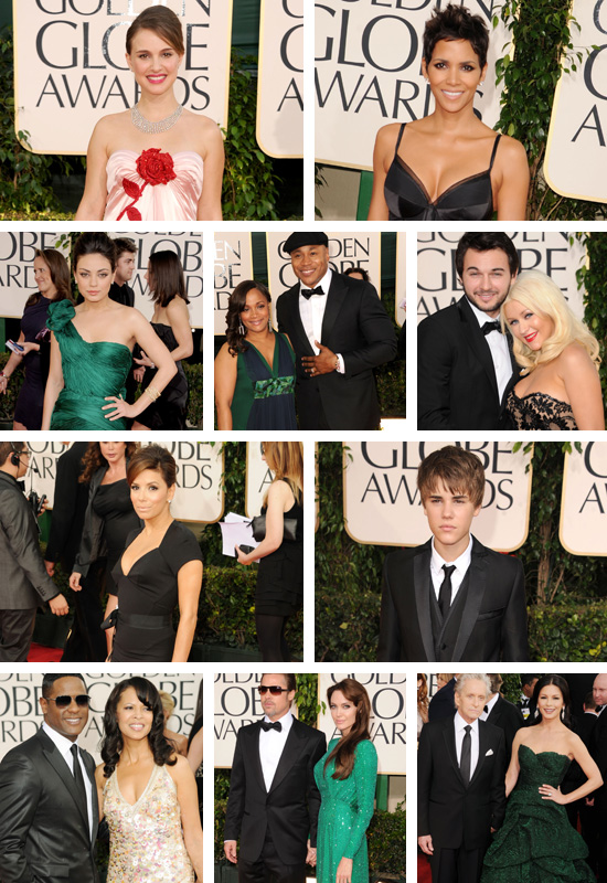 justin bieber golden globes red carpet. The red carpet featured