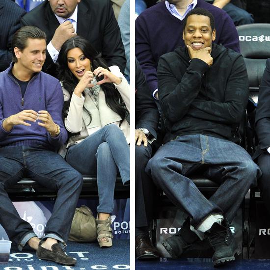 newest 1cc50 ff5cb ☆ Courtside Shots: Jay-Z, Kim Kardashian and Scott Disick ...