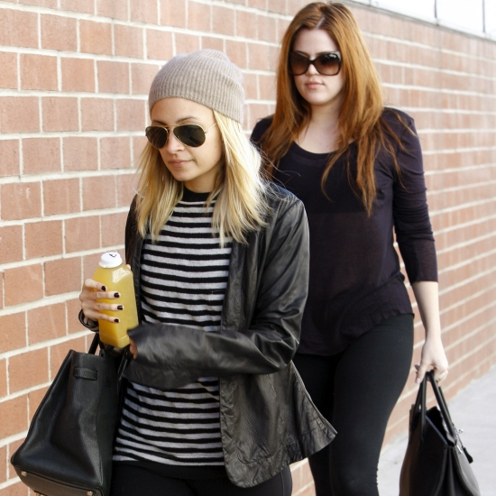 Socialite friends Khloe Kardashian and Nicole Richie were seen arriving at a