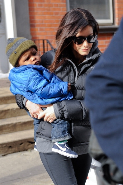 ☆ All in the Family: Sandra Bullock and Son Louis Spotted in New York