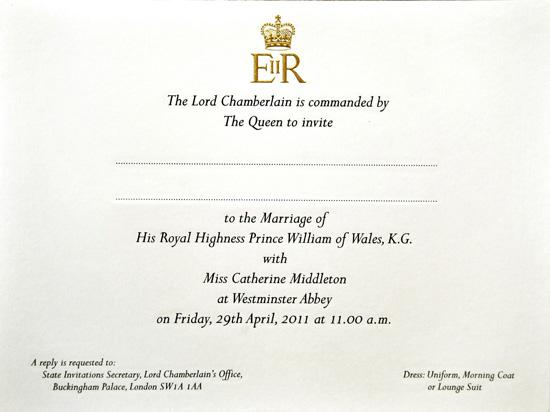 queen elizabeth wedding invitation. Queen Elizabeth will also