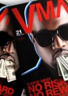 Kanye West V-Man cover with real $1 bill