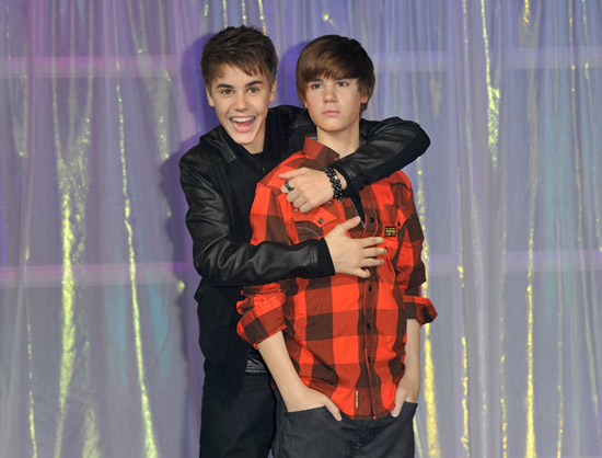justin bieber wax figure london. Justin Bieber has met his