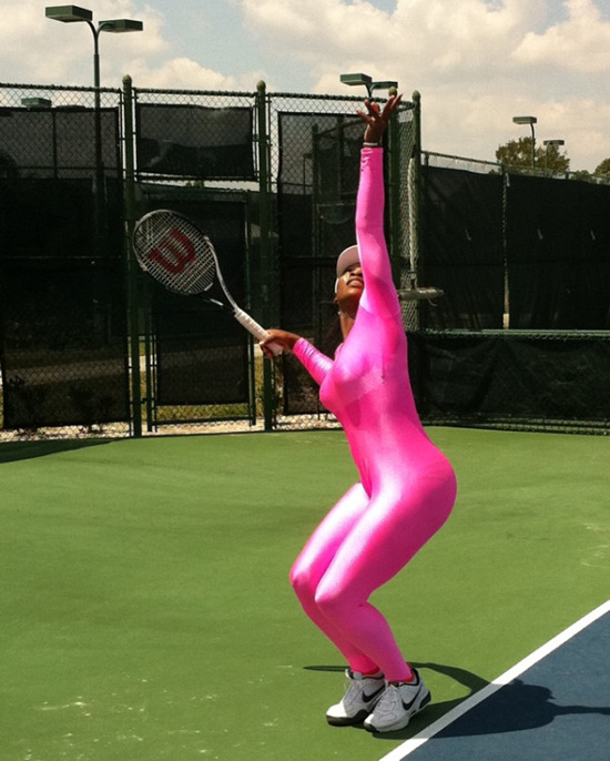 serena williams pink tennis outfit. Tennis superstar Serena