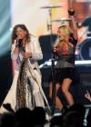 Steven Tyler & Carrie Underwood performing