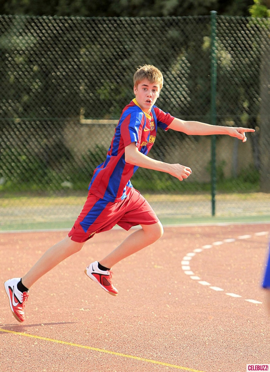 justin bieber playing soccer. house Justin Bieber smashes the ball justin bieber playing soccer in madrid.
