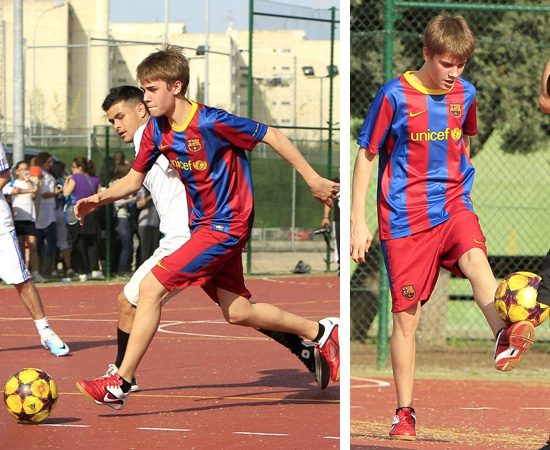 justin bieber playing soccer barcelona. Justin Bieber was spotted