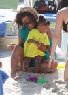 Christina Milian and 1-year-old daughter Violet