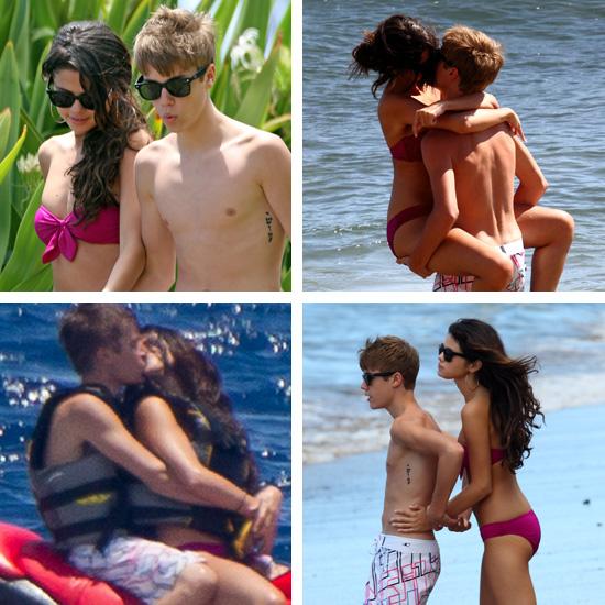 justin bieber and selena gomez in hawaii making out. Justin Bieber and Selena Gomez