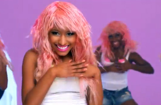 nicki minaj super bass video stills. Nicki Minaj shows off her