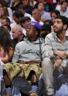 "Lil Wayne and his new ""mystery"" girl (and Drake) at the Miami Heat vs. Chicago Bulls Playoff Game in Miami"